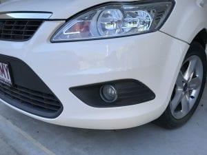 repaired bumper