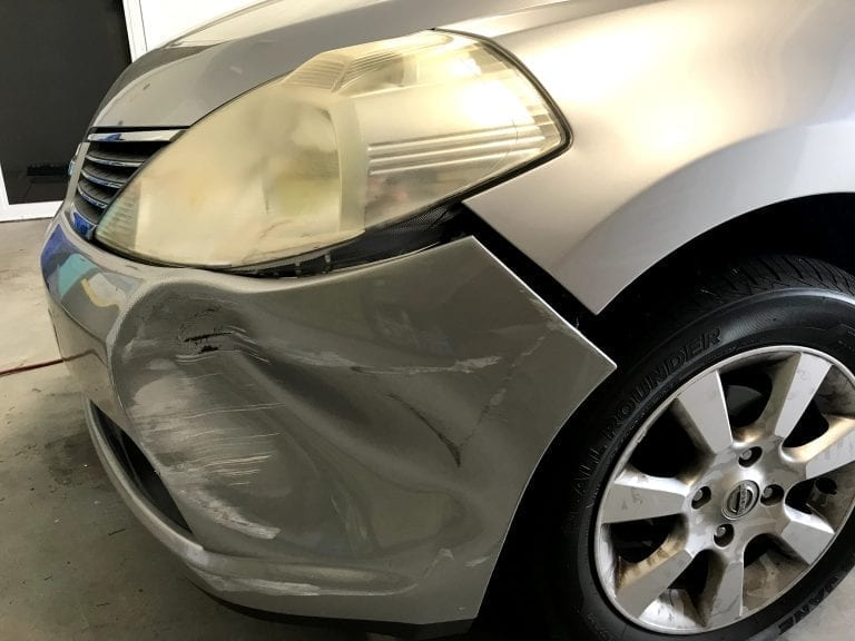 Bumper bar dent repair