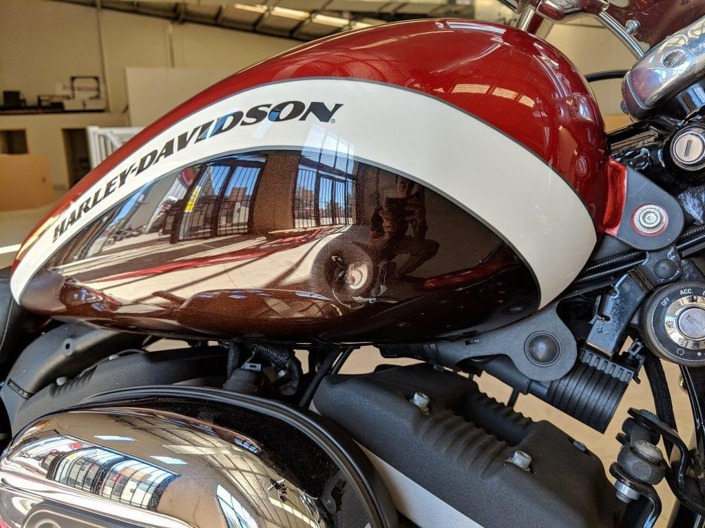 Harley Davidson tank dent