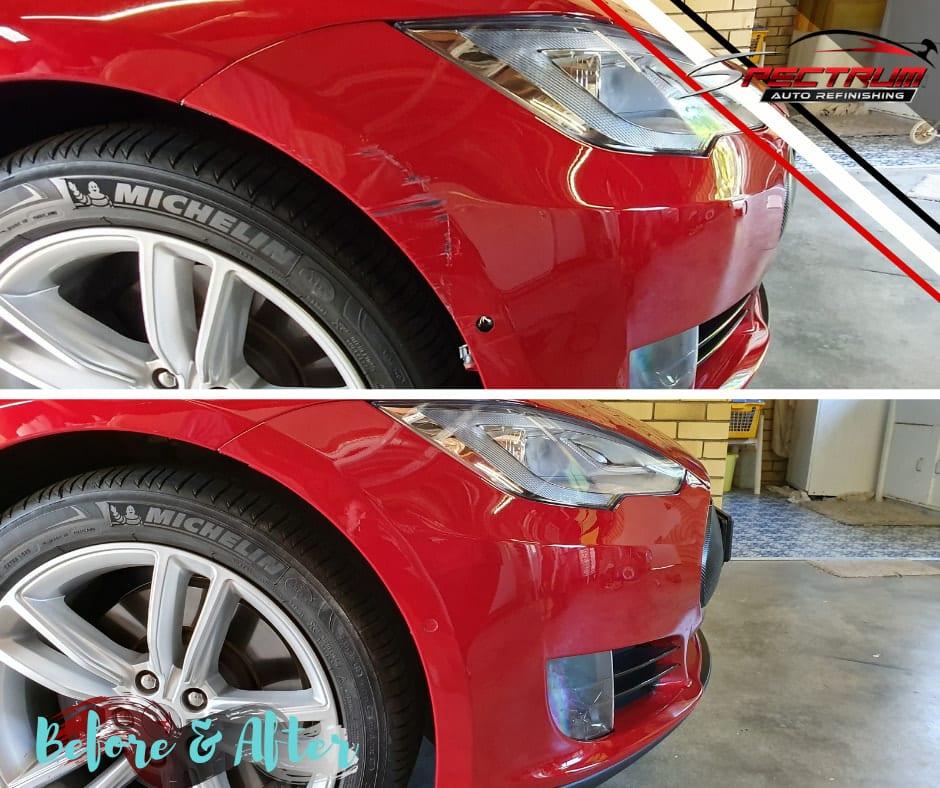 Tesla bumper repair